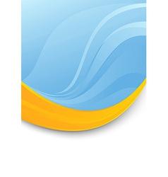 Blue folder template - orange swoosh vector image