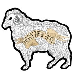 New Year Ram vector image
