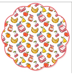 Fruit decorated napkin vector