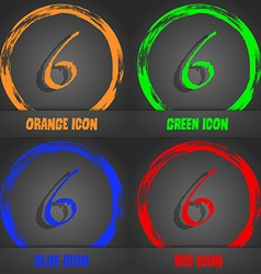 Number six icon sign fashionable modern style in vector
