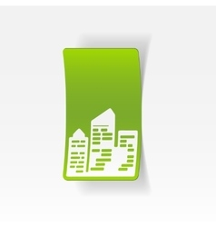 Realistic design element city skyscrapers vector