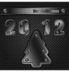 Template metallic christmas eps10 vector