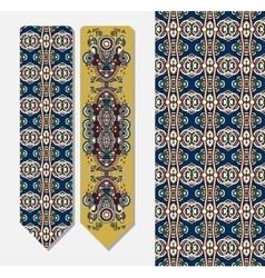 Decorative ethnic paisley bookmark for printing vector