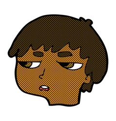 Comic cartoon annoyed boy vector