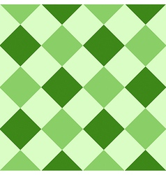Green leaf diamond chessboard background vector