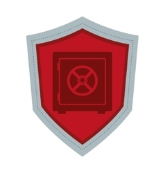 Shield with safety box icon vector