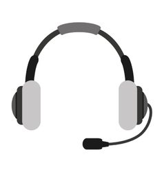 Headset headphone microphone icon vector