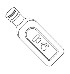 A bottle of olive oilolives single icon in vector