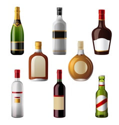 Alcohol drinks vector image vector image