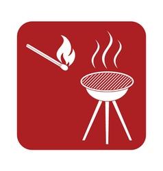 Barbecue matches icon vector
