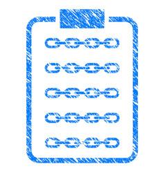 Blockchain list page icon grunge watermark vector