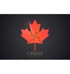 Canada logo Maple leaf Cymbol of Canada vector image vector image