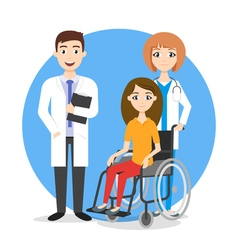 Care for disabled vector