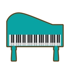 Cartoon green piano keyboard instrument music vector