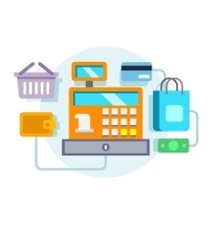 Cash register ocncept vector