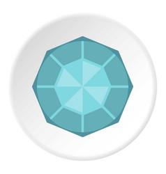 Diamond icon circle vector