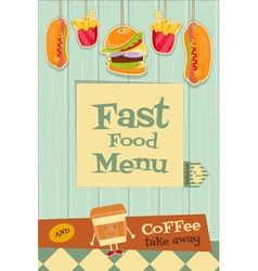 Fast food brochure vector