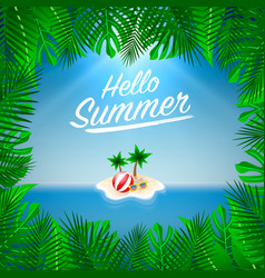 hello summer background season vacation weekend vector image vector image