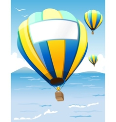 hot air balloons vector image