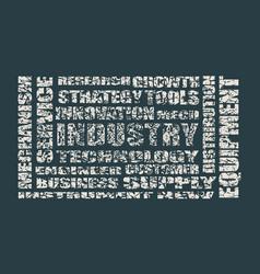 Industry word cloud concept vector