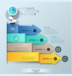 Infographic design template 4 multicolored vector