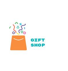 Logo for gift shop vector
