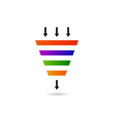 Marketing funnel for conversion and sales vector
