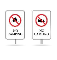 no camping sign vector image