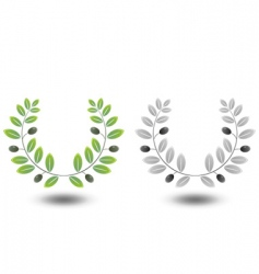 Olive wreaths vector