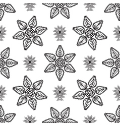 paisley drop and line flower pattern vector image vector image