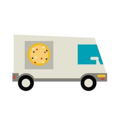 pizza delivery van vector image