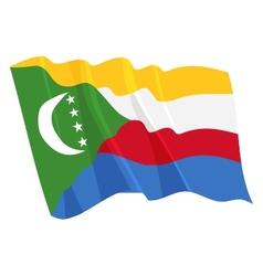 Political waving flag of comoros vector