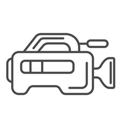 Professional tv camera linear icon vector