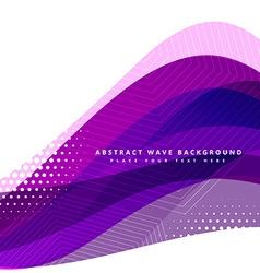 purple wavy background design vector image