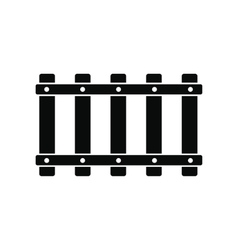 Railroad black simple icon vector