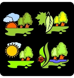 Seasons and weather- set vector image vector image