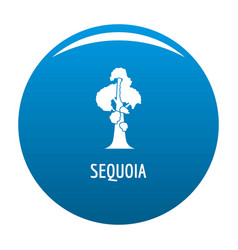 Sequoia icon blue vector