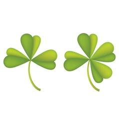 Set of clover leaves2 vector