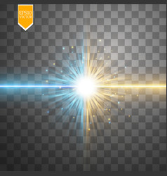 Star clash and explosion light effect neon vector