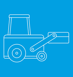 Truck to lift cargo icon outline vector