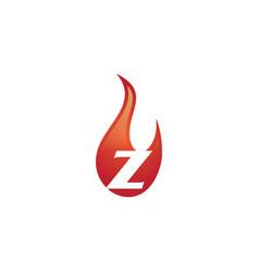 Z letter flame logo vector