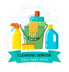 Cleaning service company vector