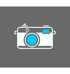 Camera icon isolated on gray background vector