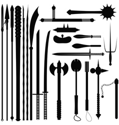 Set bladed weapons vector