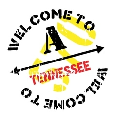 Tennessee stamp rubber grunge vector image