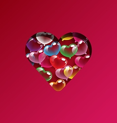 Abstract colorful heart balloons design elements vector