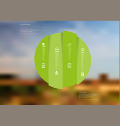 Infographic template with circle vertically vector
