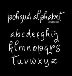 Pohgud alphabet typography vector