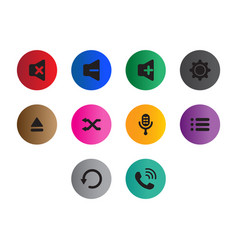 thin line button icon set vector image