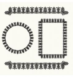 floral border elements vector image